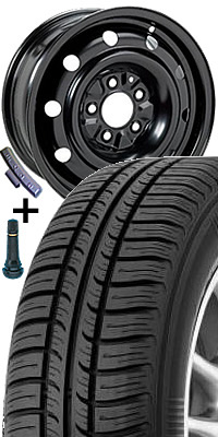 KOMPLETNÍ KOLA Plech. disk 5210 - 5J x 14 5/100 ET35 57 s pneumatikou Kormoran 175/70 R 14 IMPULSER B 84T